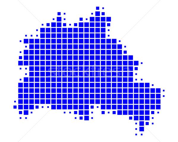 地図 ベルリン 青 パターン 広場 ベクトル ストックフォト © rbiedermann