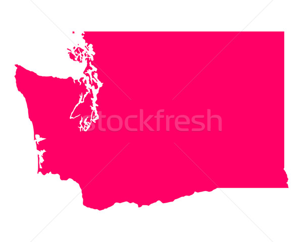 Térkép Washington utazás Amerika lila izolált Stock fotó © rbiedermann