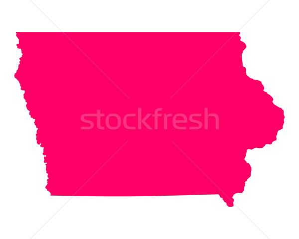 Harita Iowa seyahat Amerika mor yalıtılmış Stok fotoğraf © rbiedermann