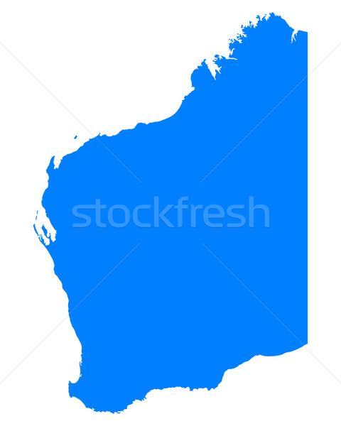 Map of Western Australia Stock photo © rbiedermann