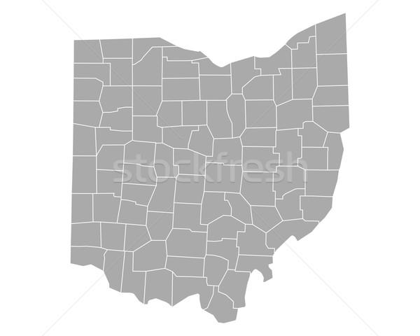 Térkép Ohio háttér vonal vektor illusztráció Stock fotó © rbiedermann