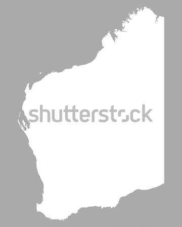 Mapa occidental Australia fondo línea Foto stock © rbiedermann