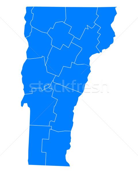 Mapa Vermont azul viajar EUA isolado Foto stock © rbiedermann