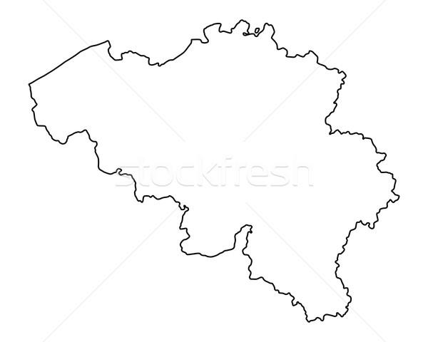 Térkép Belgium háttér izolált illusztráció Stock fotó © rbiedermann