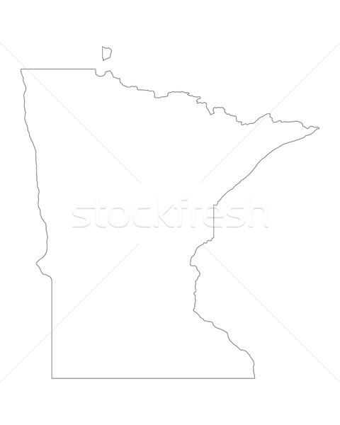 Harita Minnesota arka plan hat ABD Stok fotoğraf © rbiedermann