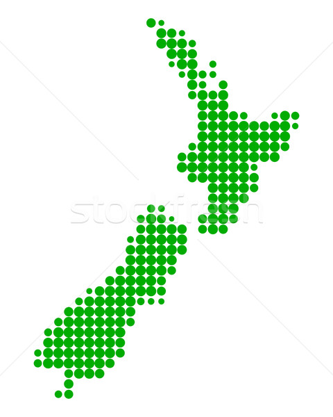 Map of New Zealand Stock photo © rbiedermann