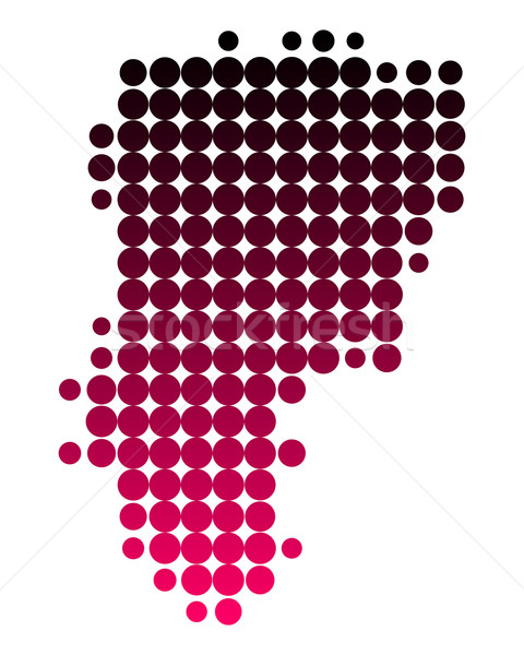 Mappa pattern rosa viola cerchio punto Foto d'archivio © rbiedermann