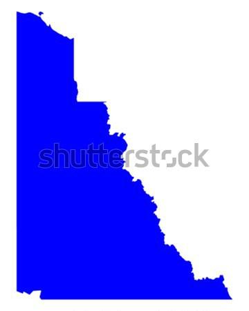 Kaart Idaho Blauw reizen amerika USA Stockfoto © rbiedermann