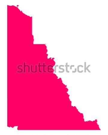 Mapa Idaho viajar américa roxo isolado Foto stock © rbiedermann