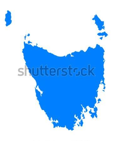Kaart tasmanië Blauw vector Australië geïsoleerd Stockfoto © rbiedermann