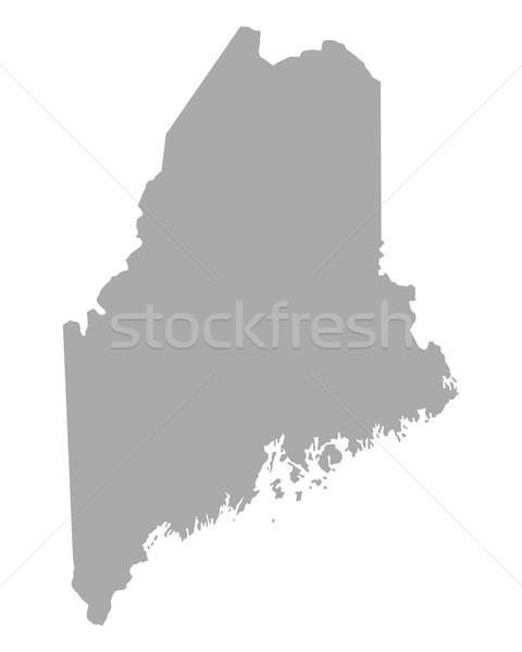 Kaart Maine reizen amerika geïsoleerd illustratie Stockfoto © rbiedermann