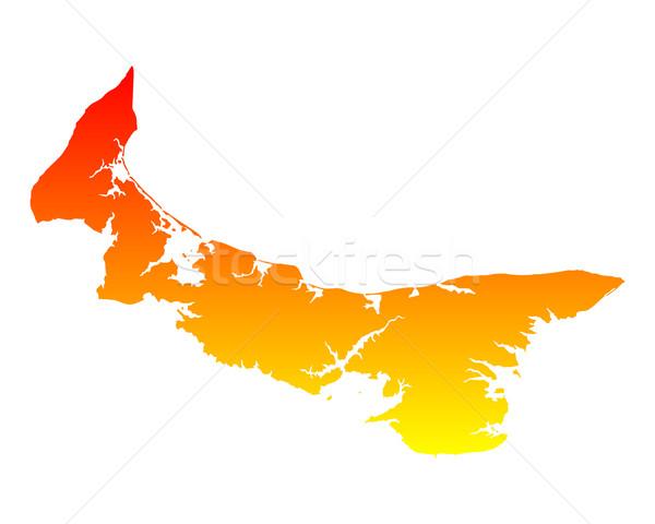 Mapa isla del príncipe eduardo isla vector aislado ilustración Foto stock © rbiedermann