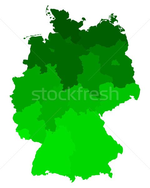 ストックフォト: 地図 · ドイツ · 背景 · 旅行 · 行 · ベクトル