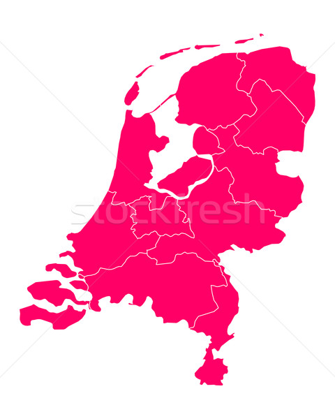 карта Нидерланды Purple Голландии границе вектора Сток-фото © rbiedermann