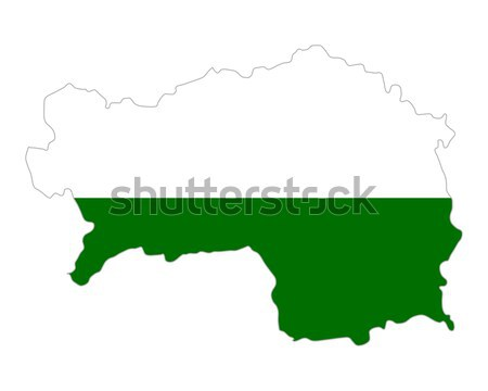 карта Сан-Марино зеленый вектора изолированный Сток-фото © rbiedermann