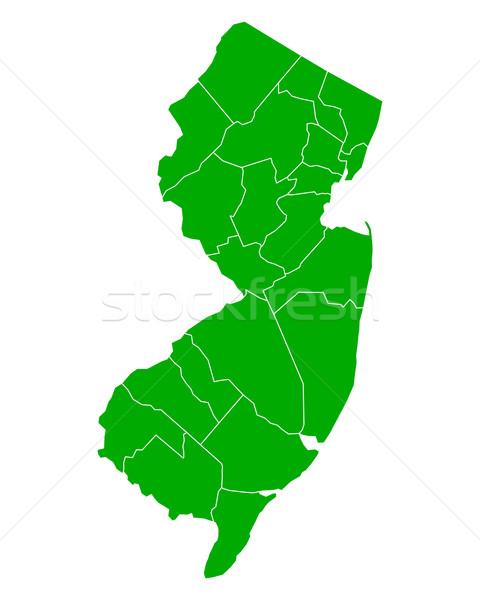 Kaart New Jersey achtergrond groene lijn USA Stockfoto © rbiedermann