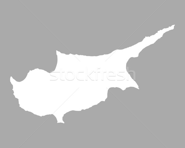 Kaart Cyprus achtergrond lijn Stockfoto © rbiedermann