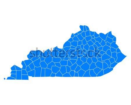 Pokaż Virginia niebieski podróży USA odizolowany Zdjęcia stock © rbiedermann