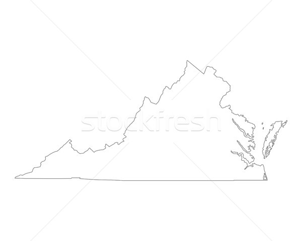 Kaart Virginia achtergrond lijn USA illustratie Stockfoto © rbiedermann