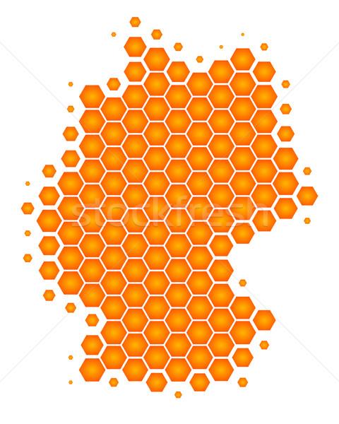 Foto stock: Mapa · Alemania · fútbol · tierra · naranja · viaje