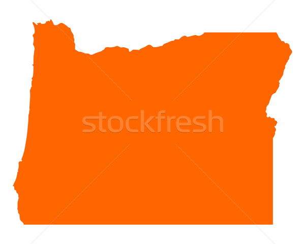 Kaart Oregon reizen amerika USA geïsoleerd Stockfoto © rbiedermann