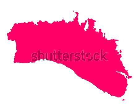 карта Висконсин путешествия Америки Purple изолированный Сток-фото © rbiedermann