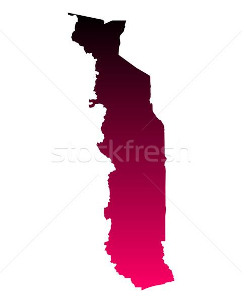 Pokaż Togo tle podróży różowy line Zdjęcia stock © rbiedermann