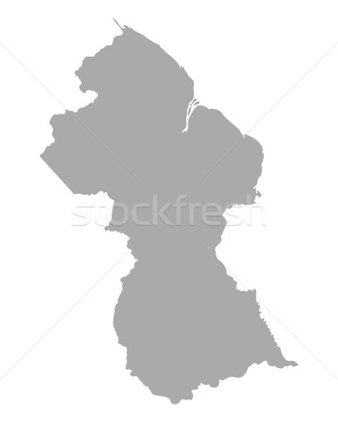 Térkép Guyana utazás vektor izolált illusztráció Stock fotó © rbiedermann