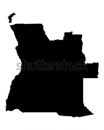 карта Ангола черный вектора изолированный Сток-фото © rbiedermann