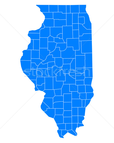 Map of Illinois Stock photo © rbiedermann