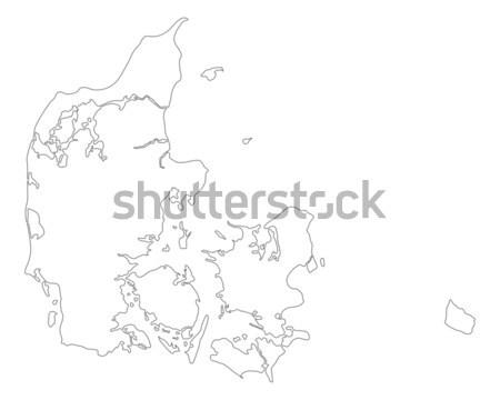 Carte Danemark fond isolé illustration Photo stock © rbiedermann
