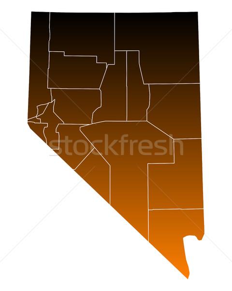 Harita Amerika Birleşik Devletleri vektör yalıtılmış örnek kahverengi Stok fotoğraf © rbiedermann