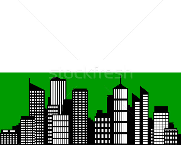 City and flag of Saxony Stock photo © rbiedermann
