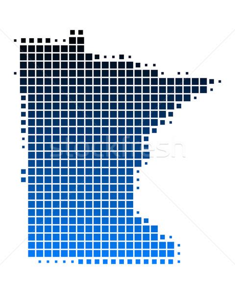 Harita Minnesota mavi model Amerika kare Stok fotoğraf © rbiedermann