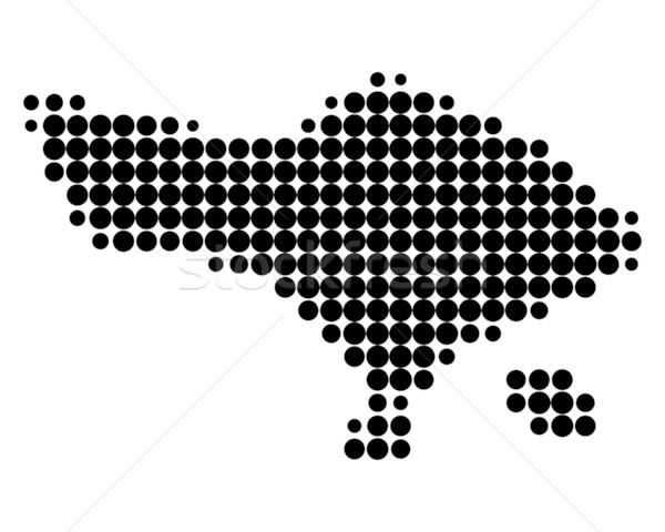 Harita bali siyah model daire nokta Stok fotoğraf © rbiedermann
