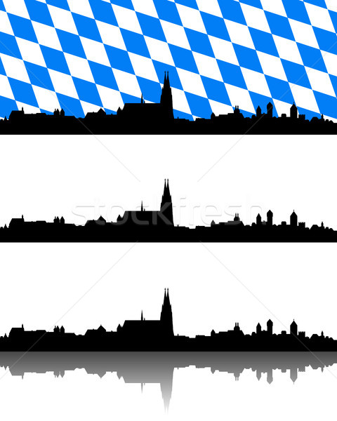 Silhouette of Regensburg, Bavaria Stock photo © rbiedermann
