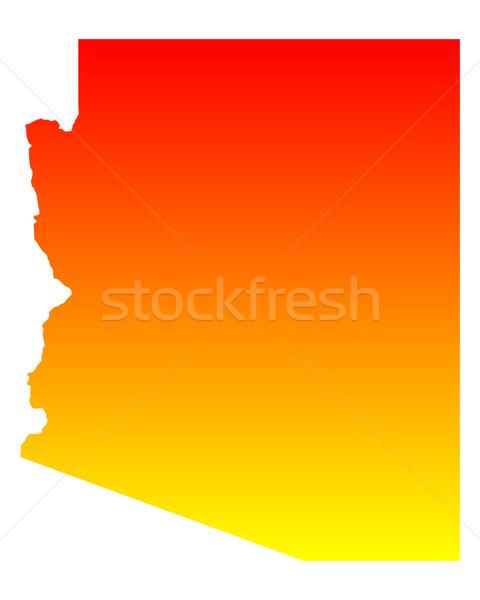 Harita Arizona seyahat Amerika ABD yalıtılmış Stok fotoğraf © rbiedermann