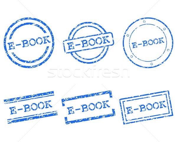 Ebook postzegels stempel grafische tag zegel Stockfoto © rbiedermann