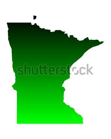 Mapa Minnesota verde viajar américa EUA Foto stock © rbiedermann