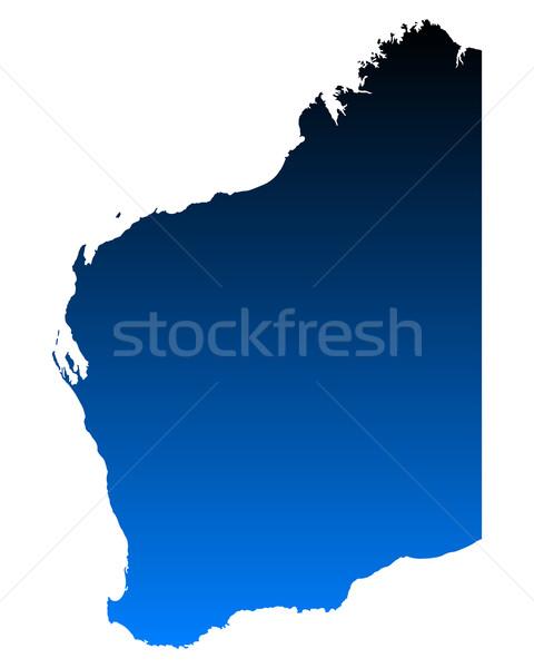 Kaart westerse Australië Blauw vector Stockfoto © rbiedermann