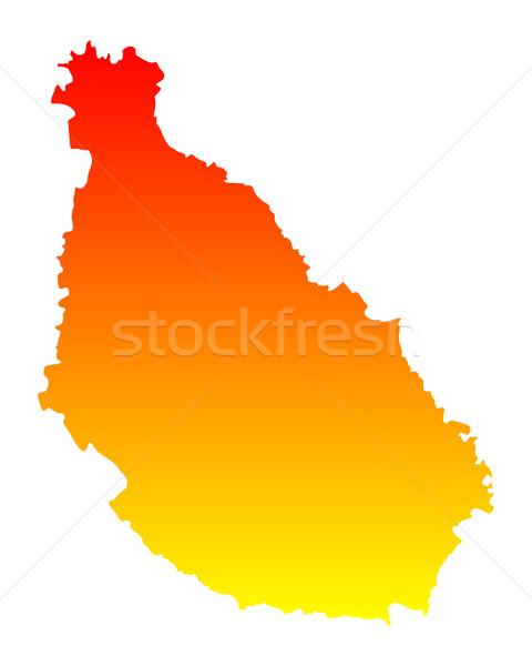 Kaart Santiago vector geïsoleerd illustratie Stockfoto © rbiedermann