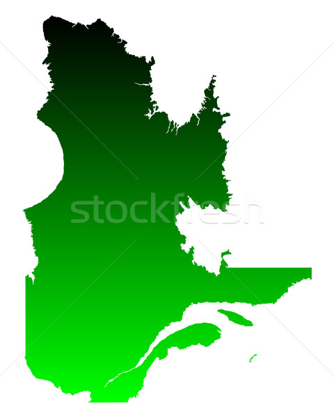Map of Quebec Stock photo © rbiedermann