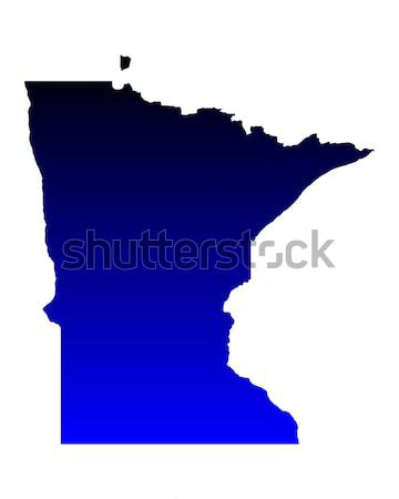 Harita Minnesota mavi seyahat Amerika ABD Stok fotoğraf © rbiedermann