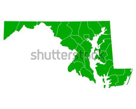 карта Массачусетс зеленый путешествия Америки США Сток-фото © rbiedermann