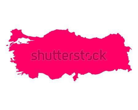 Map of Romania Stock photo © rbiedermann