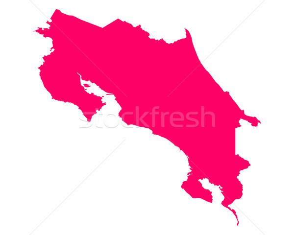 Mapa Costa Rica púrpura vector aislado Foto stock © rbiedermann