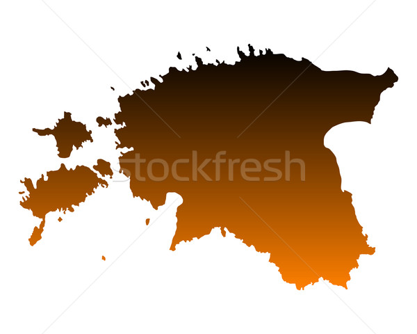 Map of Estonia Stock photo © rbiedermann