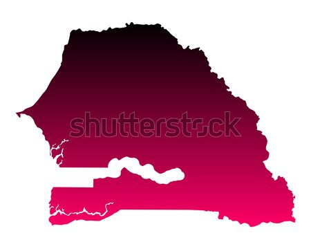 Kaart Senegal reizen paars vector Stockfoto © rbiedermann