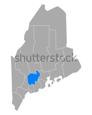 Kaart Maine reizen USA geïsoleerd illustratie Stockfoto © rbiedermann