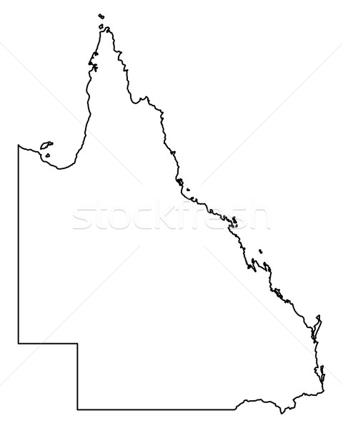 Carte queensland vecteur Australie isolé illustration Photo stock © rbiedermann